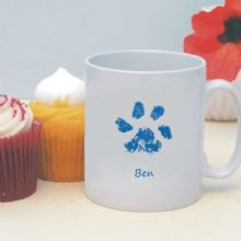Pet Paw Print Mug - Personalised Gift for a Pet Lover